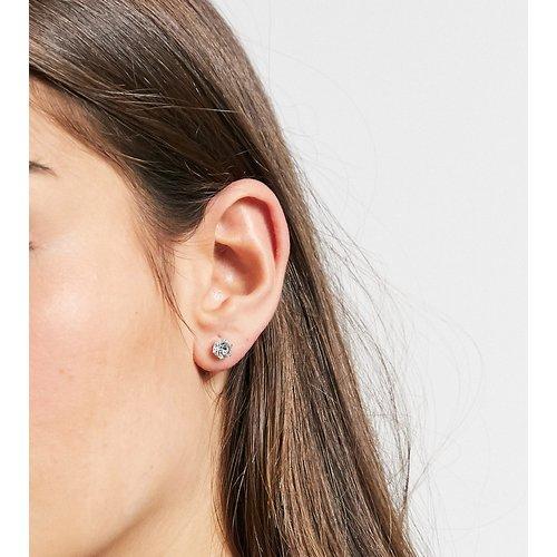 Boucles d'oreilles avec cristal en massif - ASOS DESIGN - Modalova