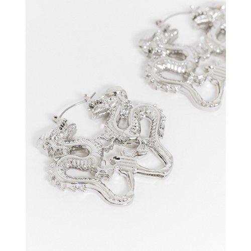 Boucles d'oreilles avec dragon effet miroir - ASOS DESIGN - Modalova