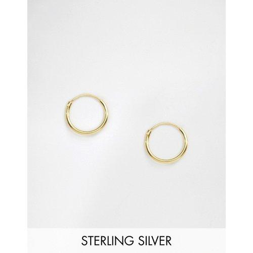 Boucles d'oreilles créoles 12 mm en argent massif plaqué or 14 carats - ASOS DESIGN - Modalova