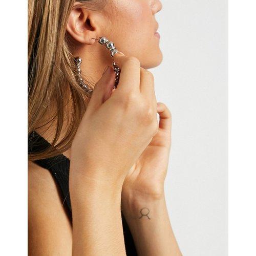 Boucles d'oreilles créoles à boules et cristaux - é - ASOS DESIGN - Modalova