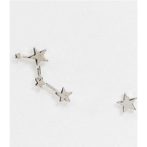 Boucles d'oreilles dépareillées motif étoile et constellation - ASOS DESIGN - Modalova