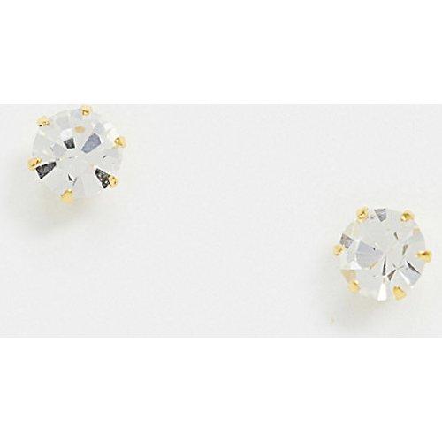Boucles d'oreilles en argent massif plaqué or avec cristaux - ASOS DESIGN - Modalova