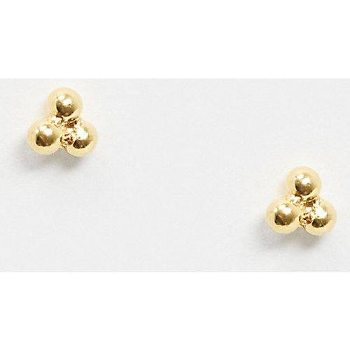 Boucles d'oreilles mini boules en argent massif plaqué or - ASOS DESIGN - Modalova