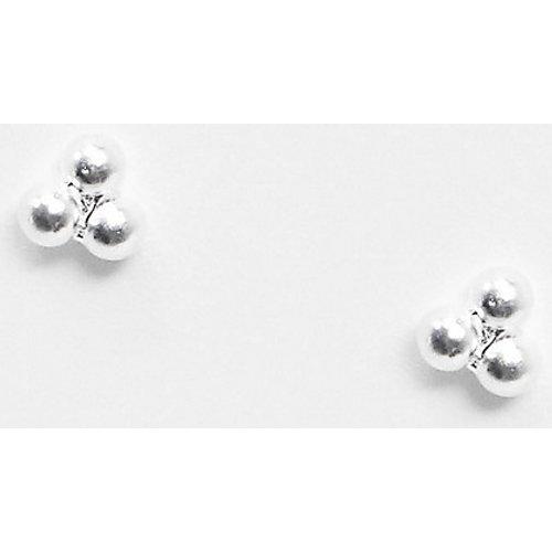 Boucles d'oreilles mini boules enargent massif - ASOS DESIGN - Modalova
