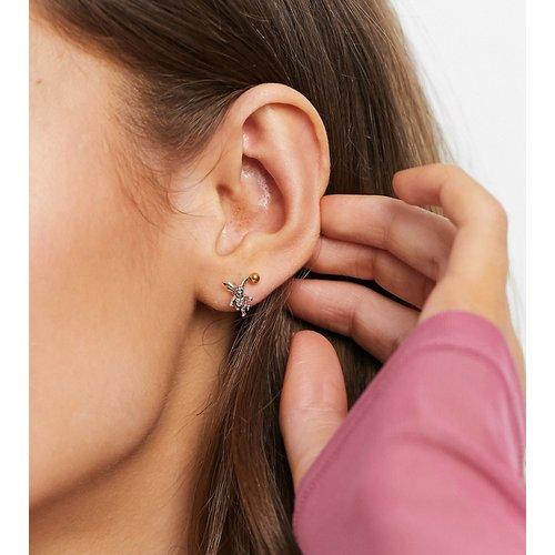 Boucles d'oreilles motif Cupidon en massif - ASOS DESIGN - Modalova