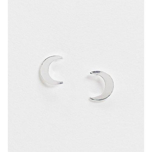 Boucles d'oreilles motif lune en argent massif - ASOS DESIGN - Modalova