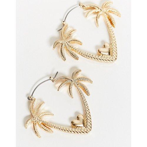 Boucles d'oreilles motif palmier romantique - ASOS DESIGN - Modalova