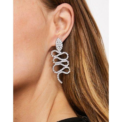 Boucles d'oreilles motif serpent avec cristaux - é - ASOS DESIGN - Modalova