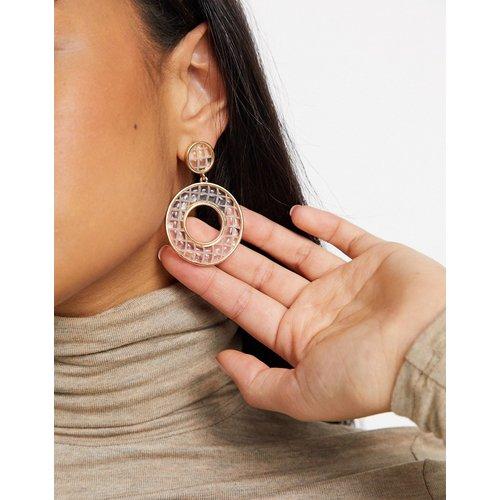 Boucles d'oreilles pendantes texturées effet tissé en résine - ASOS DESIGN - Modalova