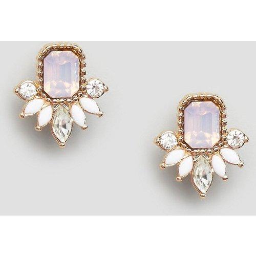 Boucles d'oreilles raffinées pour grandes occasions ornées de pierres fantaisie - ASOS DESIGN - Modalova