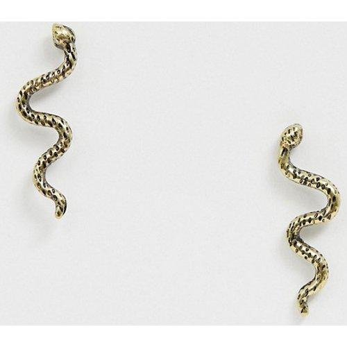 Boucles d'oreilles serpent - ASOS DESIGN - Modalova