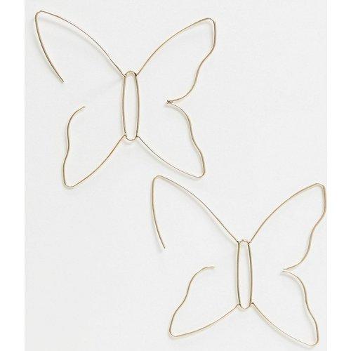 Boucles d'oreilles traversantes motif papillon - ASOS DESIGN - Modalova