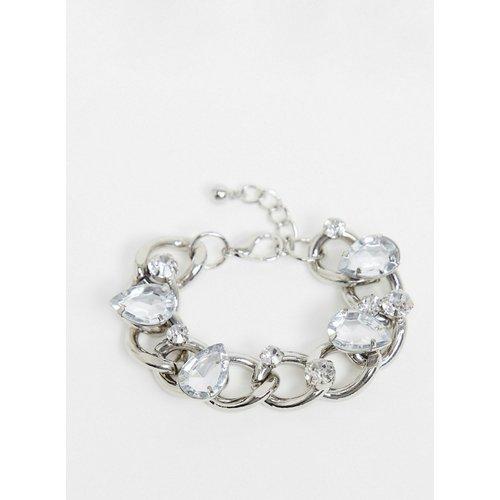 Bracelet chaîne à maillons orné de cristaux - ASOS DESIGN - Modalova