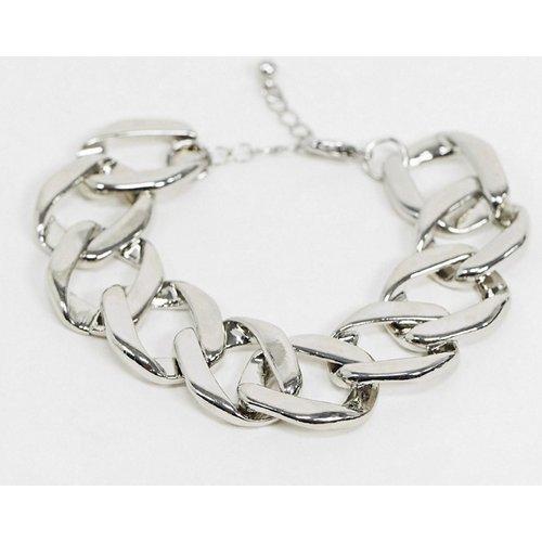 Bracelet chaîne à maillons plats - ASOS DESIGN - Modalova