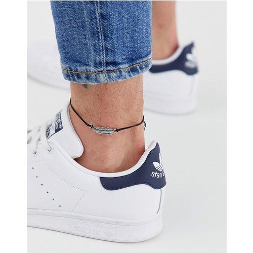 Bracelet de cheville avec plume - ASOS DESIGN - Modalova