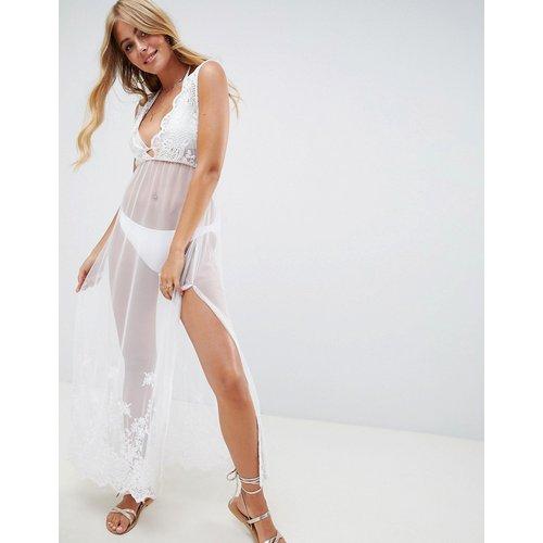 Bridal - Robe de plage longue brodée - ASOS DESIGN - Modalova