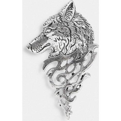 Broche motif tatouage de loup - poli - ASOS DESIGN - Modalova
