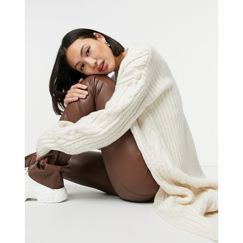 Cardigan confort en maille torsadée - ASOS DESIGN - Modalova