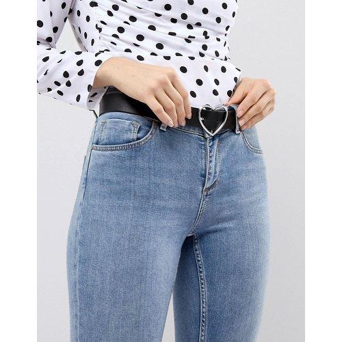 Ceinture de jean taille et hanches avec boucle cœur - Argenté - ASOS DESIGN - Modalova
