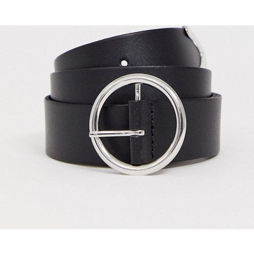 Ceinture en cuir pour jean avec boucle circulaire et extrémité renforcée - ASOS DESIGN - Modalova