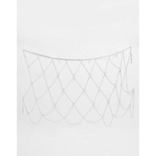 Ceinture pour jupe en chaîne avec pierre effet hologramme - ASOS DESIGN - Modalova