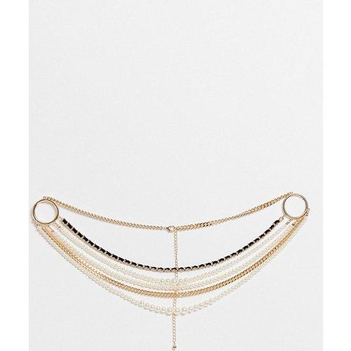 Ceinture taille et hanches à chaînes et perles - ASOS DESIGN - Modalova