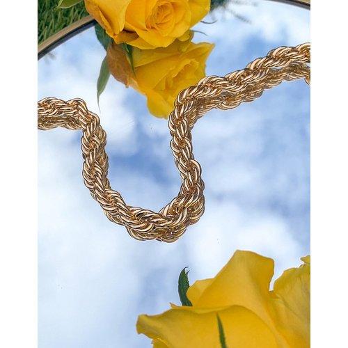 Ceinture taille et hanches en chaîne chunky torsadée - ASOS DESIGN - Modalova