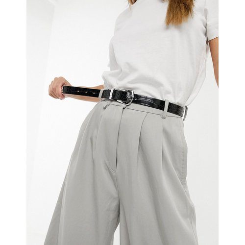 Ceinture taille et hanches pour jean avec boucle style western - brillant croco - ASOS DESIGN - Modalova