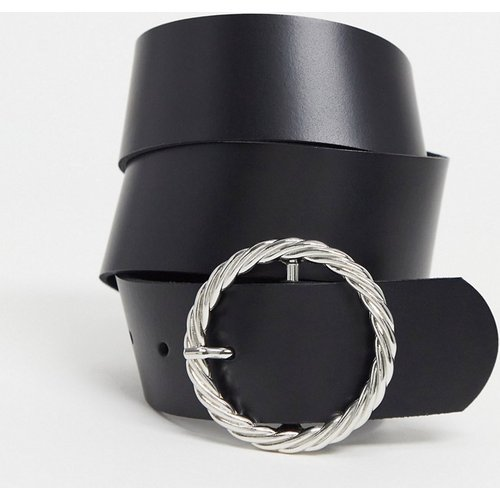 Ceinture taille ou hanches pour jean en cuir avec boucle torsadée - ASOS DESIGN - Modalova