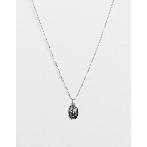 Chaîne fine2 mm à pendentif ovale - Argent poli - ASOS DESIGN - Modalova