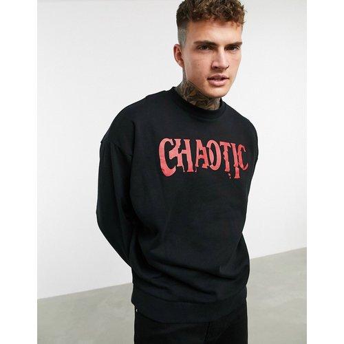 Chaotic - Sweat-shirt oversize avec imprimé - ASOS DESIGN - Modalova