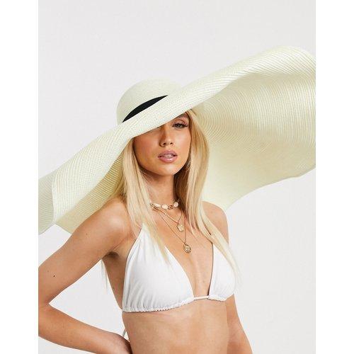 Chapeau de paille oversize avec bande de réglage - ASOS DESIGN - Modalova
