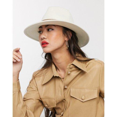 Chapeau en feutre avec bande fauve et tour de tête ajustable - Crème - ASOS DESIGN - Modalova