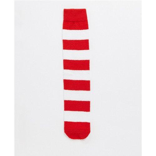 Chaussettes chaussons à rayures - Rouge et blanc - ASOS DESIGN - Modalova