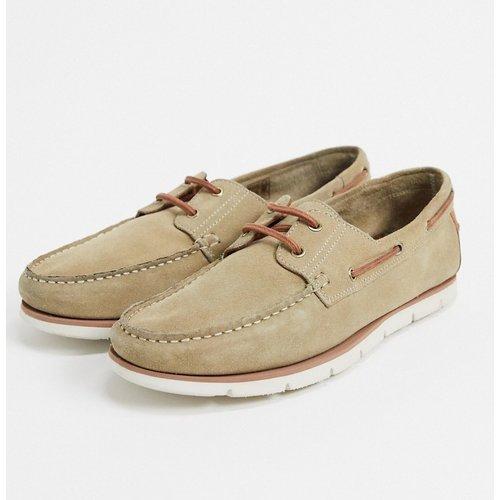 Chaussures bateau en daim avec semelle blanche - ASOS DESIGN - Modalova