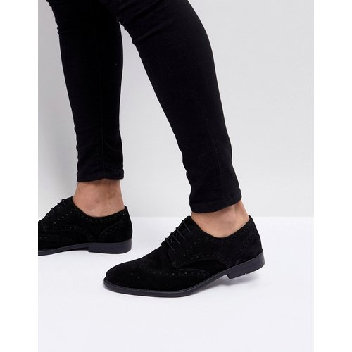 Chaussures derby style richelieu - Daim - ASOS DESIGN - Modalova