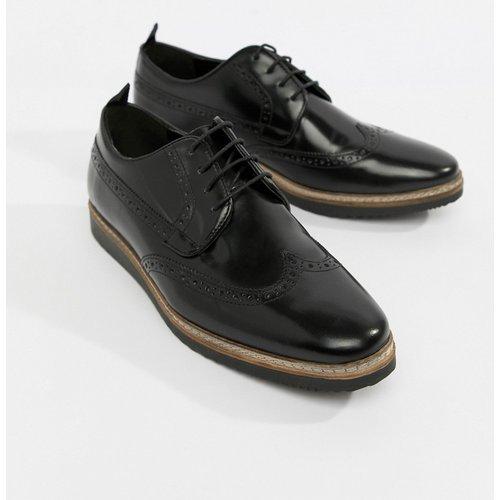 Chaussures richelieu en cuir avec semelle compensée - ASOS DESIGN - Modalova