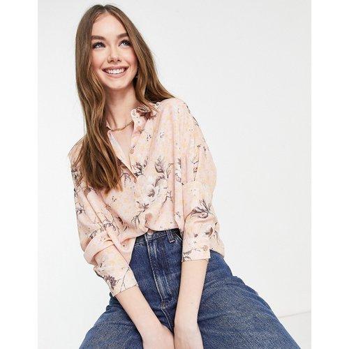 Chemise à manches longues à imprimé fleuri - ASOS DESIGN - Modalova