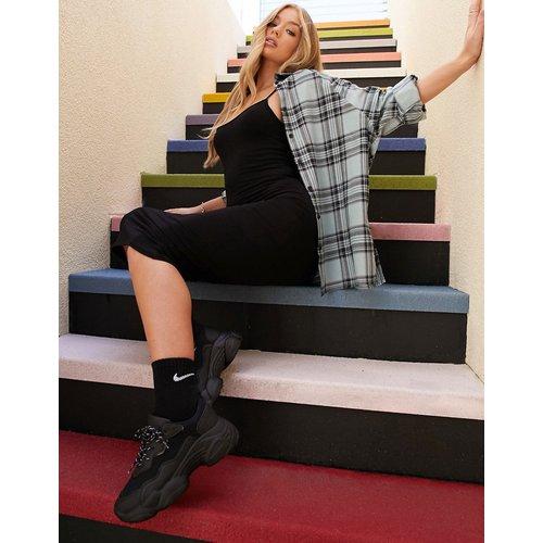 Chemise boyfriend manches longues à carreaux - Sauge et noir - ASOS DESIGN - Modalova