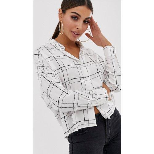 Chemise courte manches longues à imprimé carreaux façon croquis - ASOS DESIGN - Modalova