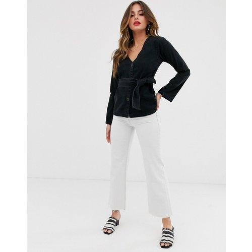 Chemise en jean à ceinture - délavé - ASOS DESIGN - Modalova