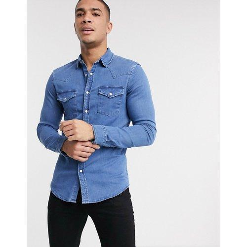 Chemise en jean ajustée style western à délavage moyen - ASOS DESIGN - Modalova