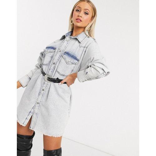 Chemise en jean oversize - délavé clair - ASOS DESIGN - Modalova