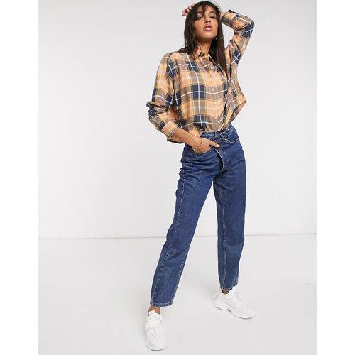 Chemise manches longues courte à carreaux - Bleu marine et rose - ASOS DESIGN - Modalova