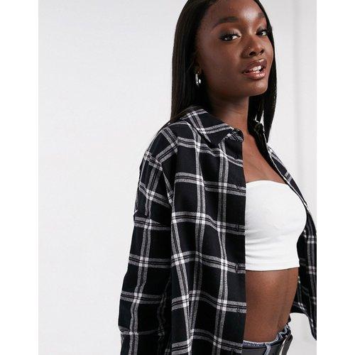 Chemise manches longues courte à carreaux - Noir et blanc - ASOS DESIGN - Modalova