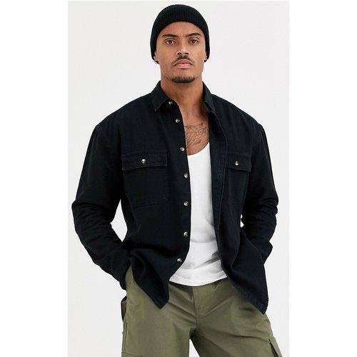 Chemise oversize en jean bio avec double poche - délavé - ASOS DESIGN - Modalova
