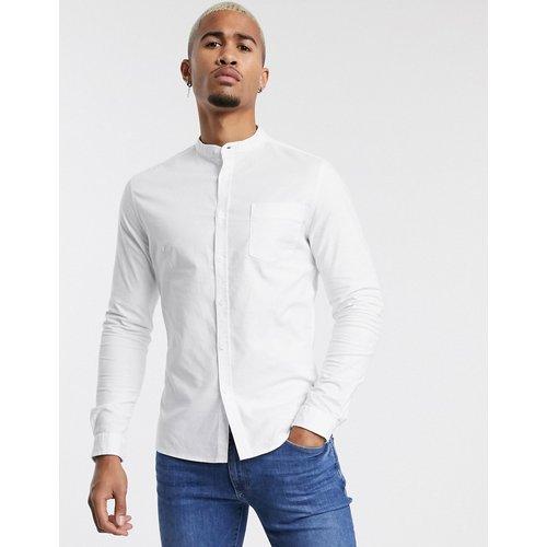 Chemise Oxford habillée à col grand-père coupe ajustée - ASOS DESIGN - Modalova
