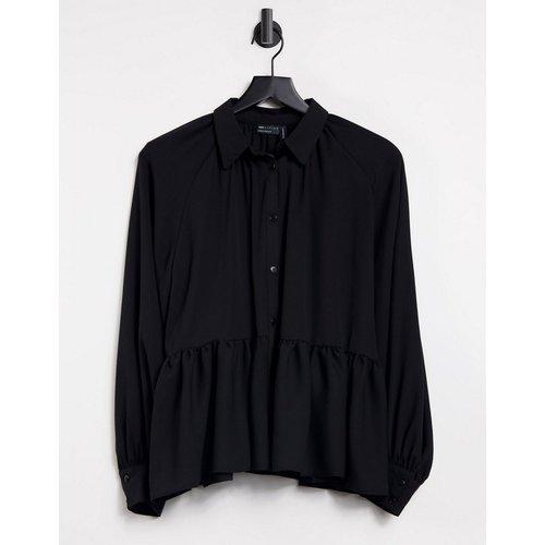 Chemise transparente à manches longues et basque - ASOS DESIGN - Modalova