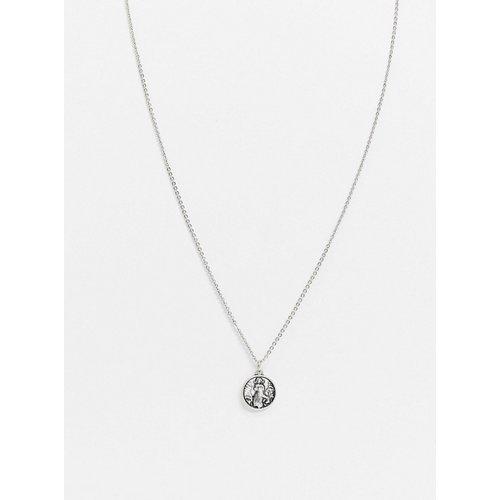 Collier à pendentif style religieux - Argent poli - ASOS DESIGN - Modalova