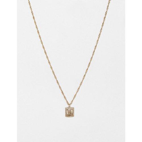 Collier avec médaillon souverain - ASOS DESIGN - Modalova